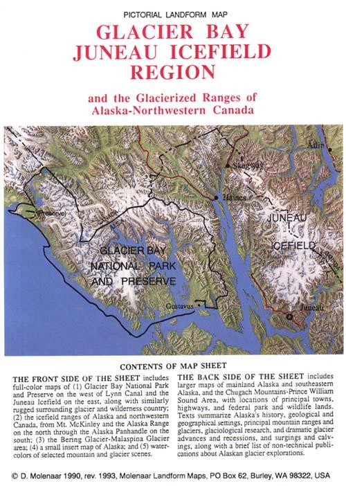 Glacier Bay AlaskaMolenaar Landform Maps